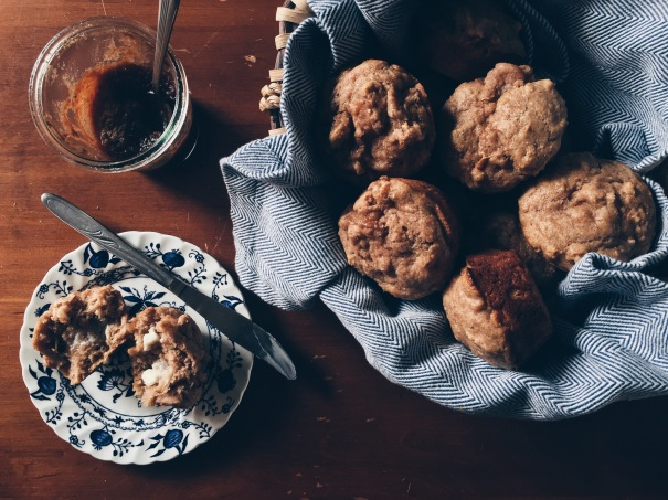 whole grain roasted apple muffins -- a recipe by sweetrevengepdx