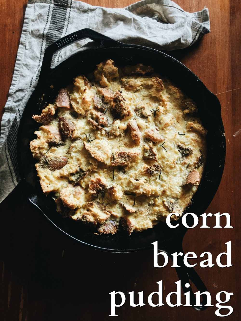 corn bread pudding recipe. an easy & delicious holiday side!