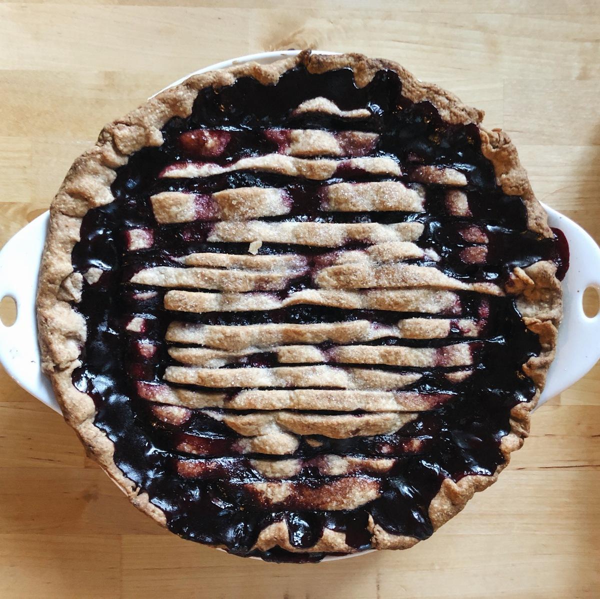 blackberry pie from sweetrevengepdx